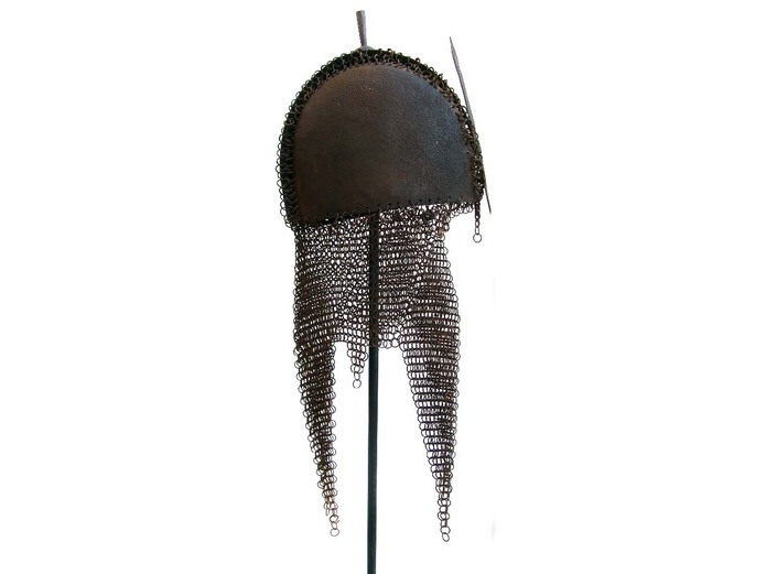 Early Indian Mughal Mail and Plate Helmet
