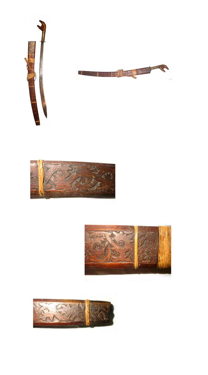 19th century Murut Parang Pakayun sword from North Borneo