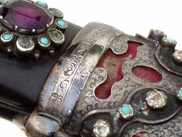 19th century Jewelled Turkish Kindjal dagger