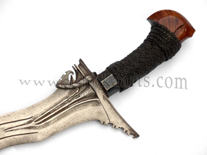Moro Keris or Sundang sword from Sulu with 'twistcore' blade circa 1880