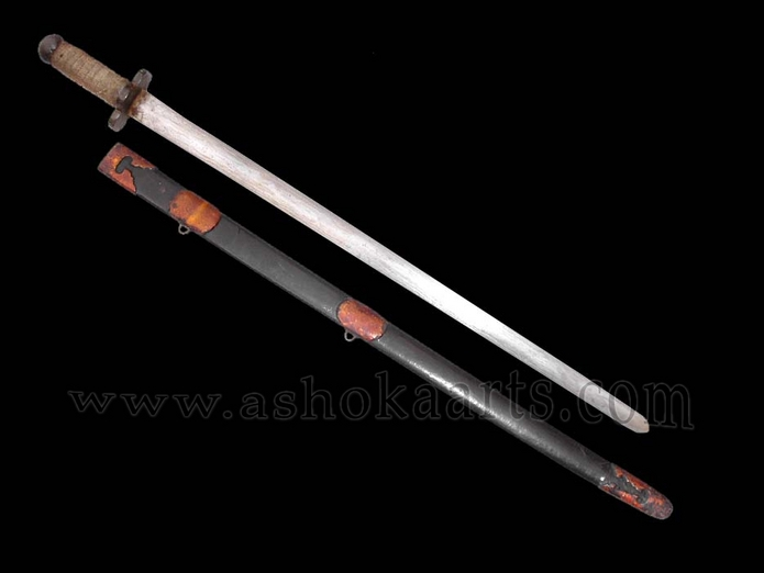 Rare Antique Chinese Jian sword with Dao-type mounts