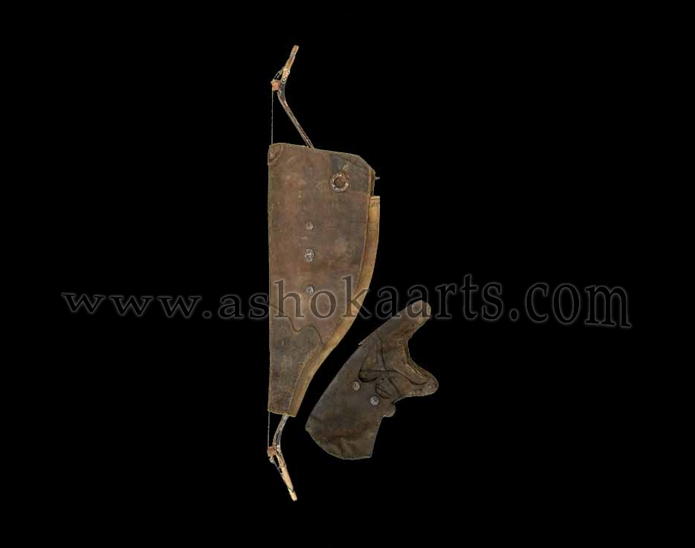Antique Chinese or Tibetan Bowcase and Quiver
