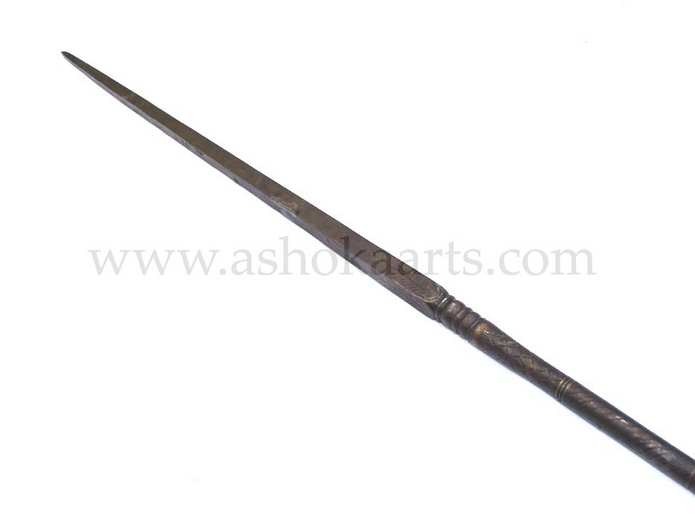 antique Indian Rajput All-Steel lance 'Sang'