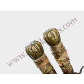 rare chinese double jian maces with scabbard Sai