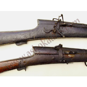 Two heavy Afghan matchlock muskets