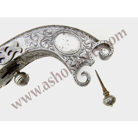 Fine quality All Steel Scottish Highland Flintlock Ramshorn pistol