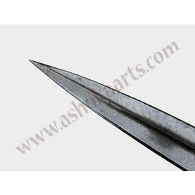Fine Persian lancehead wootz steel and gold damascened shaft